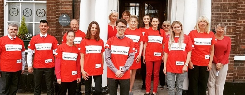Clapham & Collinge wears it red by taking part in  Red Cross Week and showing the power of kindness