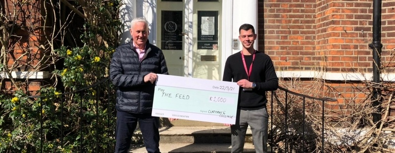 Clapham & Collinge LLP donates £1000 to social enterprise The Feed