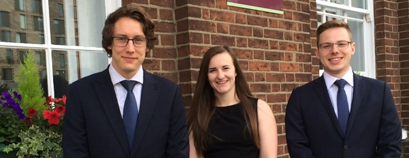 Clapham & Collinge Solicitors are delighted to introduce our three new trainee solicitors