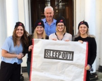 Clapham & Collinge Solicitors taking part in Norwich Sleep Out in support of The Benjamin Foundation