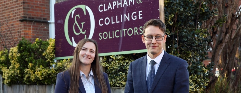 Joseph Keeping and Laura Fearnley qualify as Solicitors