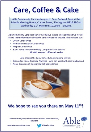 care-coffee-cake-able-community-care-with-clapham-collinge-solicitors-sheringham